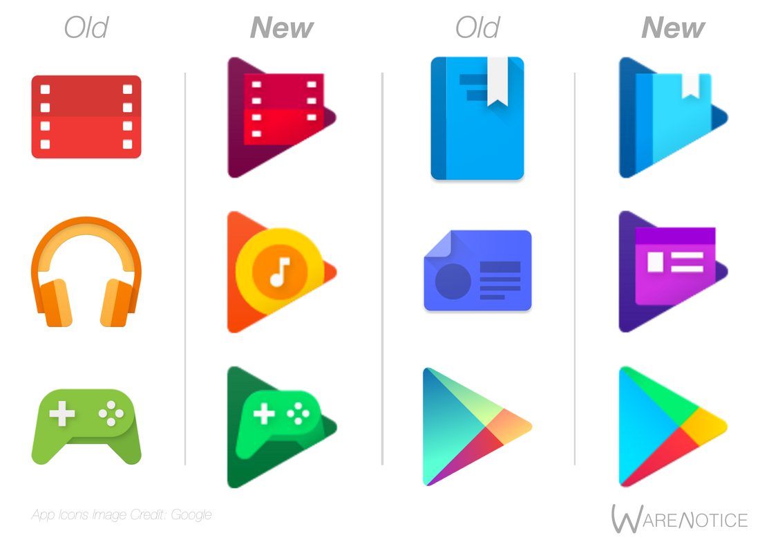 Image gallery new google play icons Play app